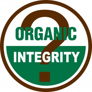 organic integrity with question mark